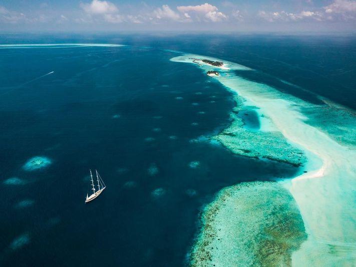 Sailing Yacht Athos world tour 2015 - 2018. Micronesia