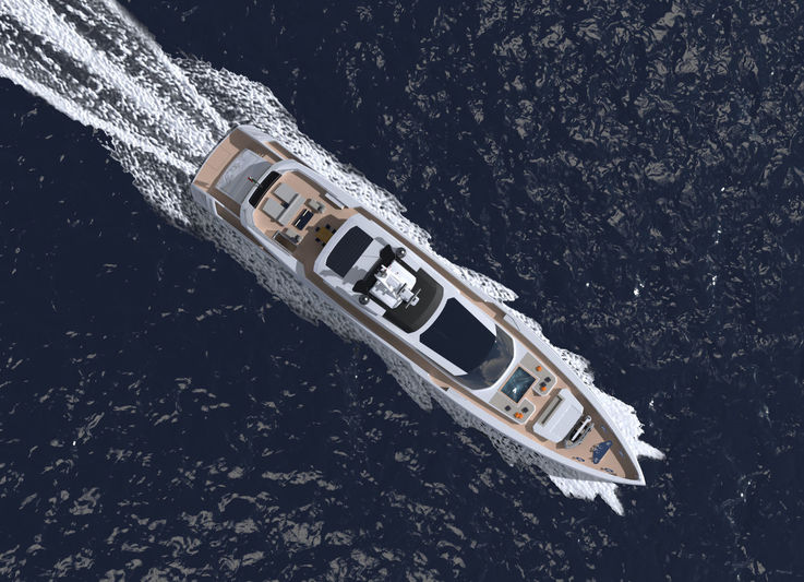 Columbus S50 motor yacht rendering