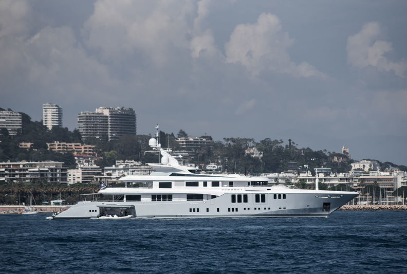Odessa II anchored off Cannes during CFF