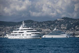 Saint Nicolas and Jubilee anchored off Cannes during CFF