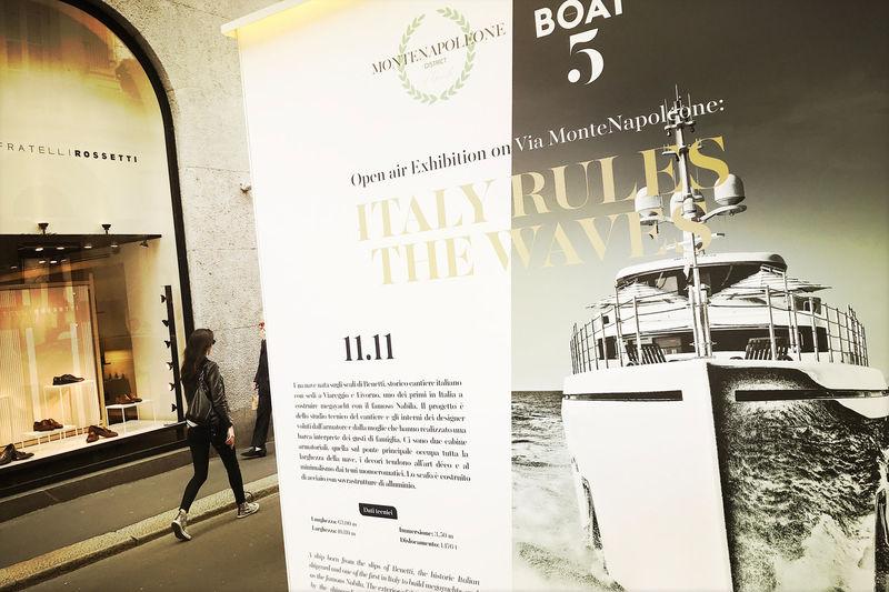 Via Montenapoleone photographic exhibition Milan 2018