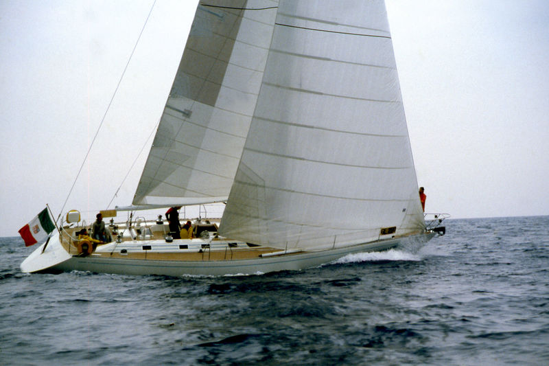 First project of Nauta Design - the Nauta 54 My Song in 1987