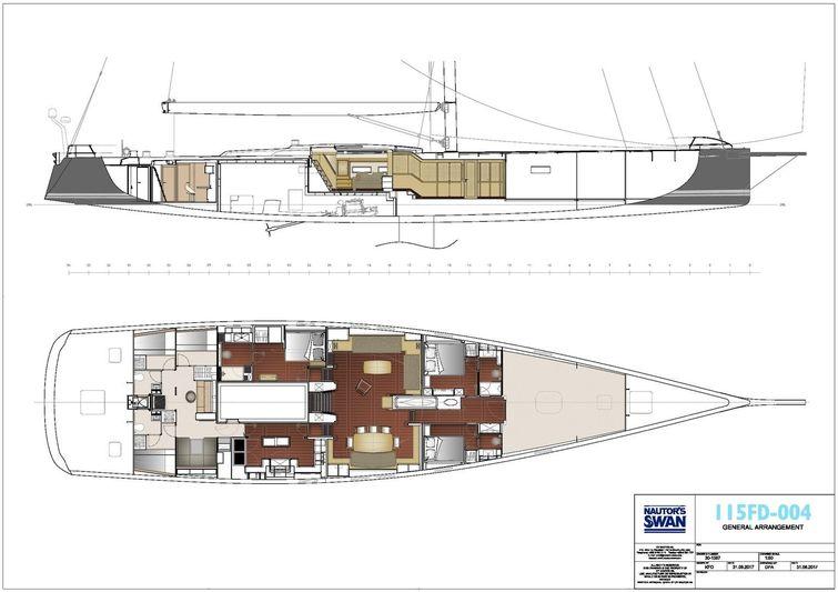 Swan 115 FD - 004 layout