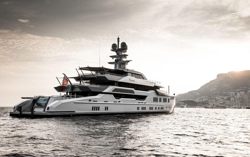 Elysian anchored off Monaco