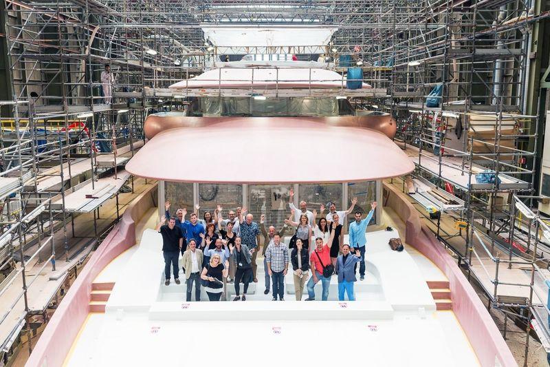 HISWA superyacht press tour 2018 at Amels