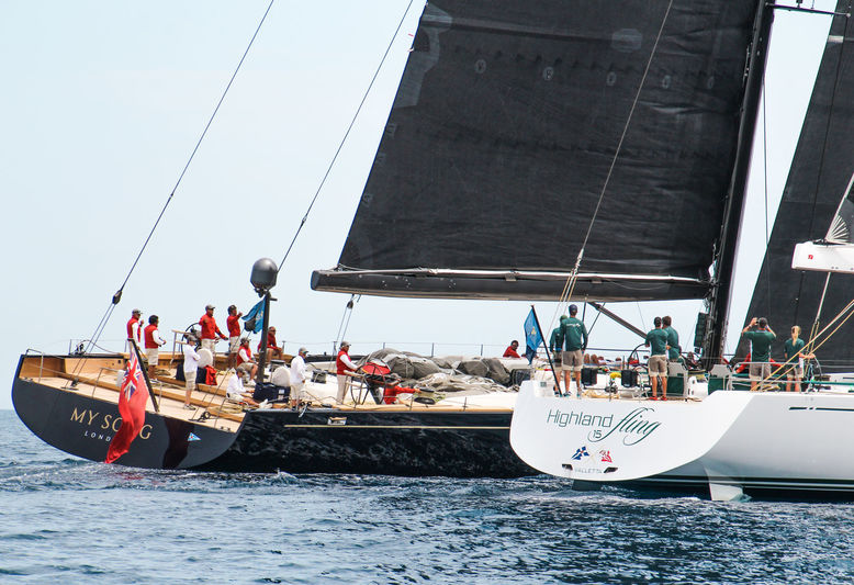 My Song and Highland Fling 15 at the Loro Piana Superyacht Regatta Day 1