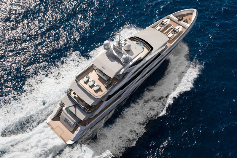 Turquoise Yachts Project Tala exterior design