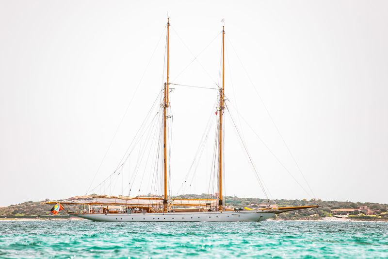 Germania Nova anchored off Sardinia