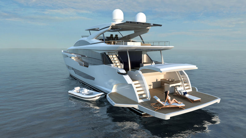 Pearl Yachts 95 exterior design