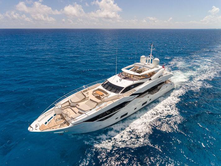 Sunseeker 116 Lost Boys cruising in the Bahamas