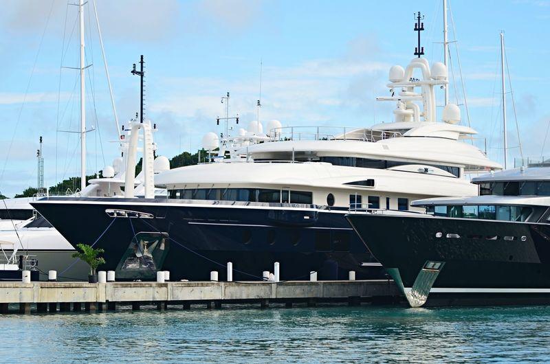 Numptia in Antigua Yacht Club