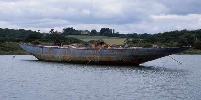 Endeavour rusted hull