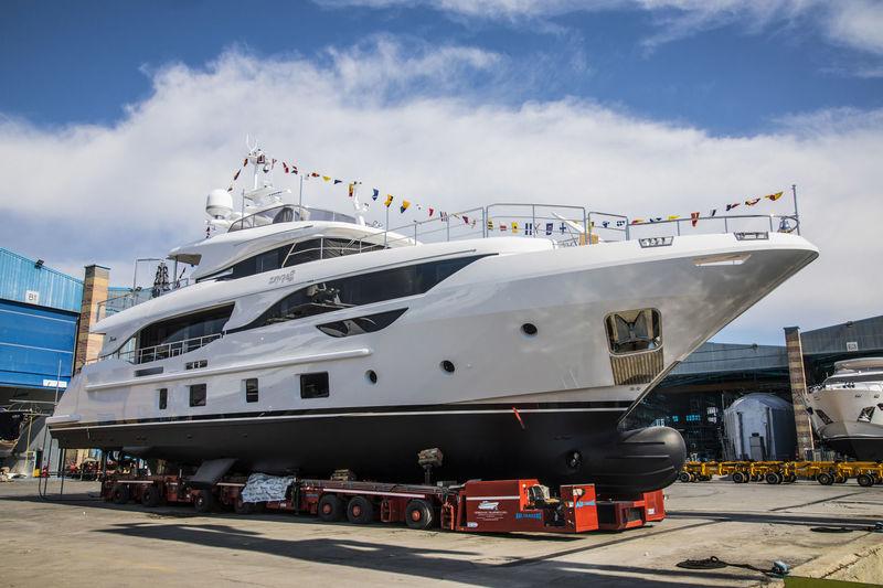 Zehra launch at Benetti's Viareggio shipyard