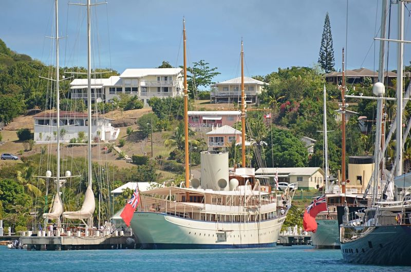 Nahlin in Antigua Yacht Club marina