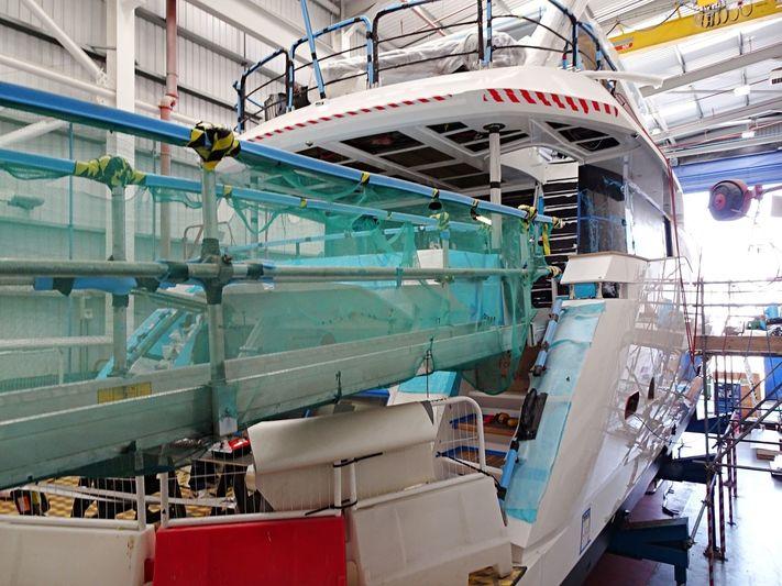 Sunseeker 95/432 in build in Poole