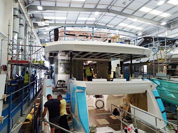 Sunseeker 116/719 in build in Poole