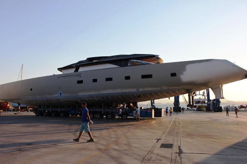 Troy hull transportation in Bodrum