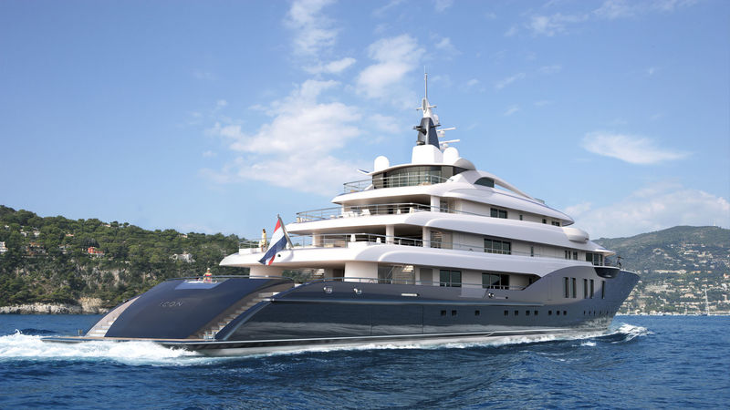 ICON Yachts 280 exterior rendering