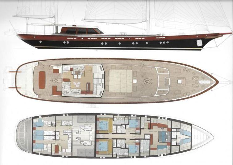 Vay sailing yacht layout