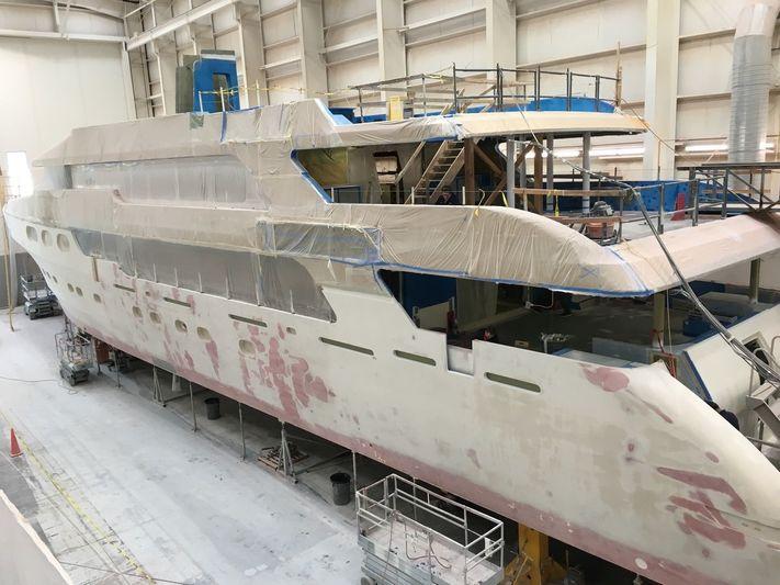 Christensen hull 38 under construction