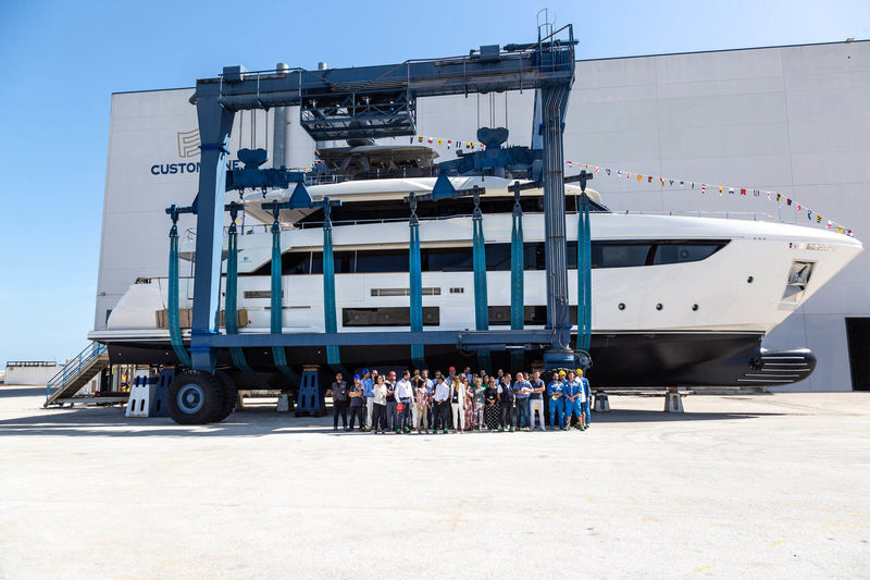 Custom Line Navetta 33 at shipyard