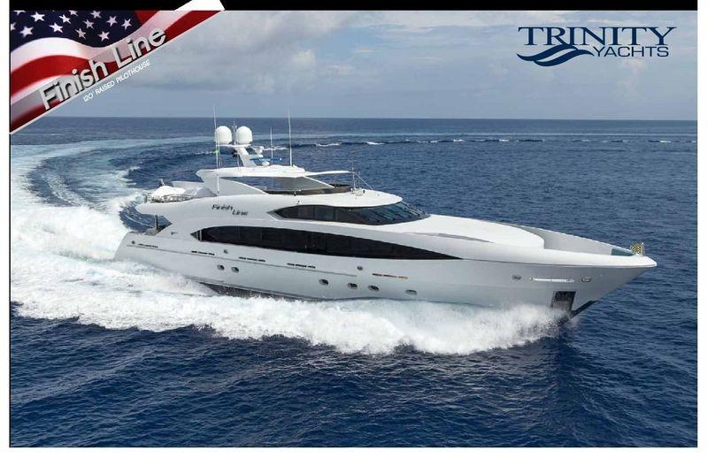 FINISH LINE yacht Trinity
