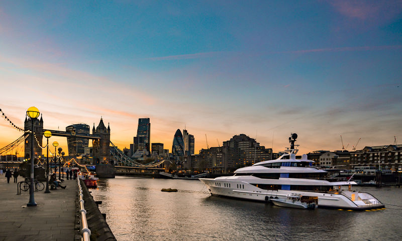 Feadship superyacht Vanish on the River Thames, London