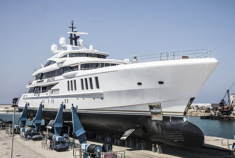 Benetti superyacht Spectre launch