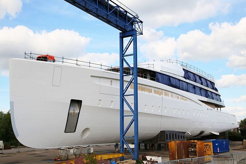 Feadship Hull 817 in build at NMC