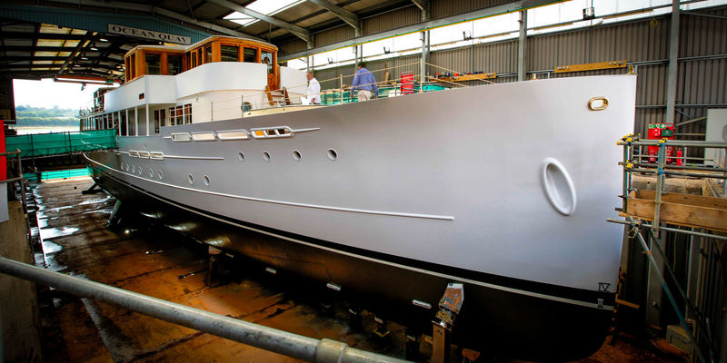 Classic motor yacht Alicia relaunched in Southampton