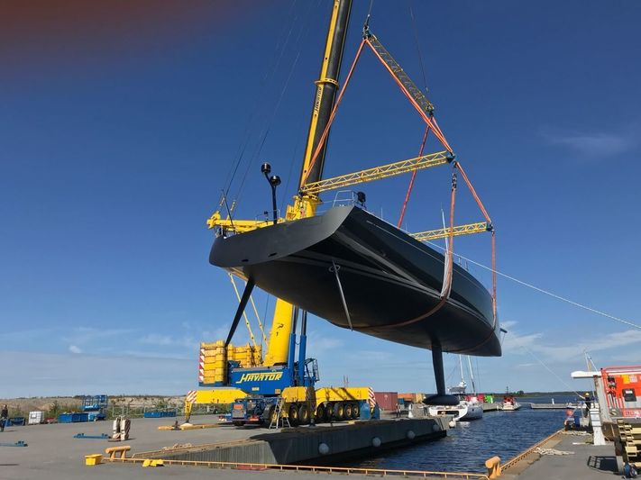Launch of Swan 115 sailing yacht Odin in Jakobstad