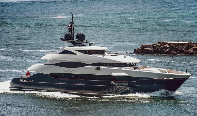 Heesen superyacht Abbracci arriving in Port Everglades