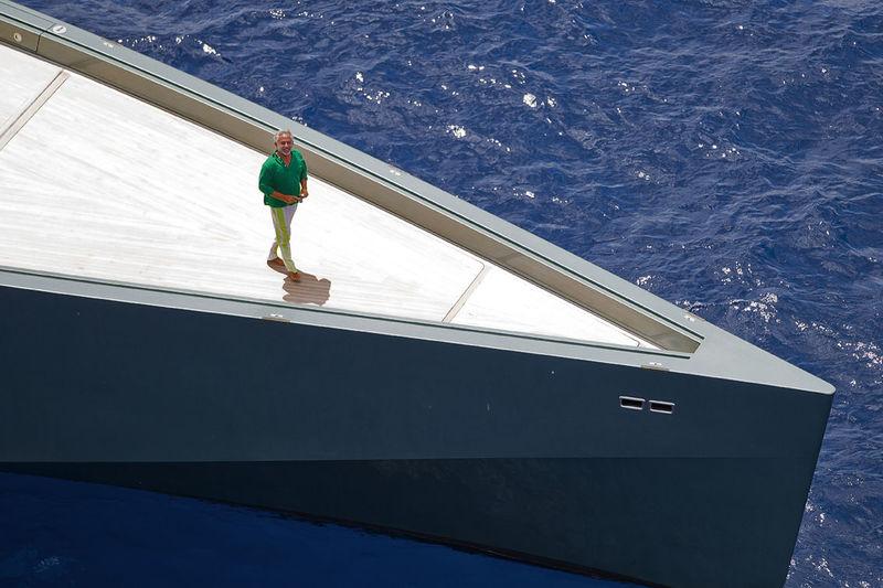 Luca Bassani on board Wallypower 118