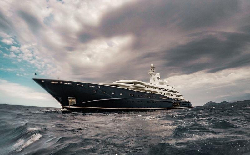 133m superyacht Al Mirqab in Porto Cervo