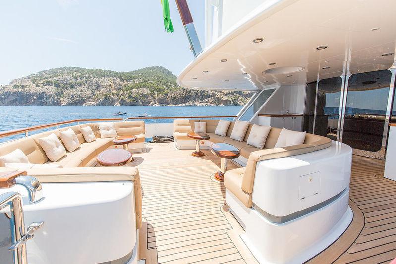 Lady Anastasia yacht main deck aft