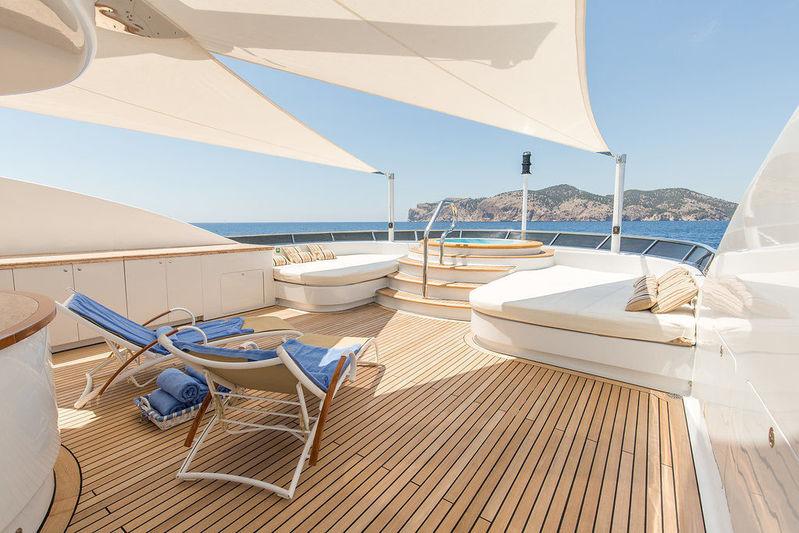 Lady Anastasia yacht sun deck