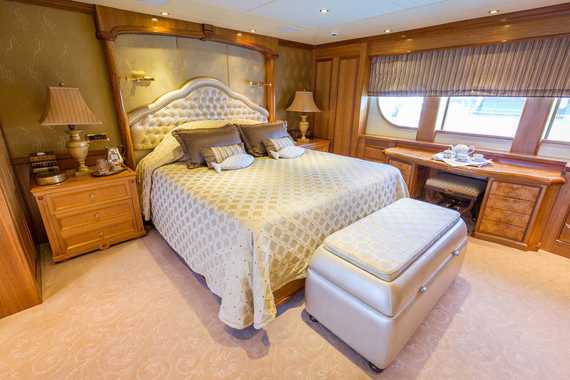 Lady Anastasia yacht main deck master suite