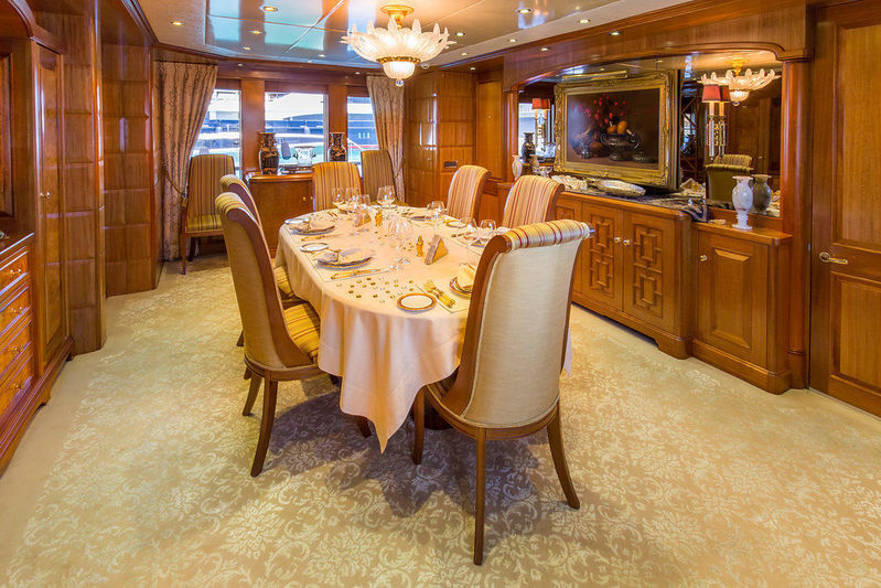 Lady Anastasia yacht main deck dining area