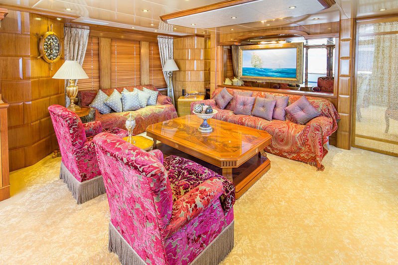 Lady Anastasia yacht main deck saloon