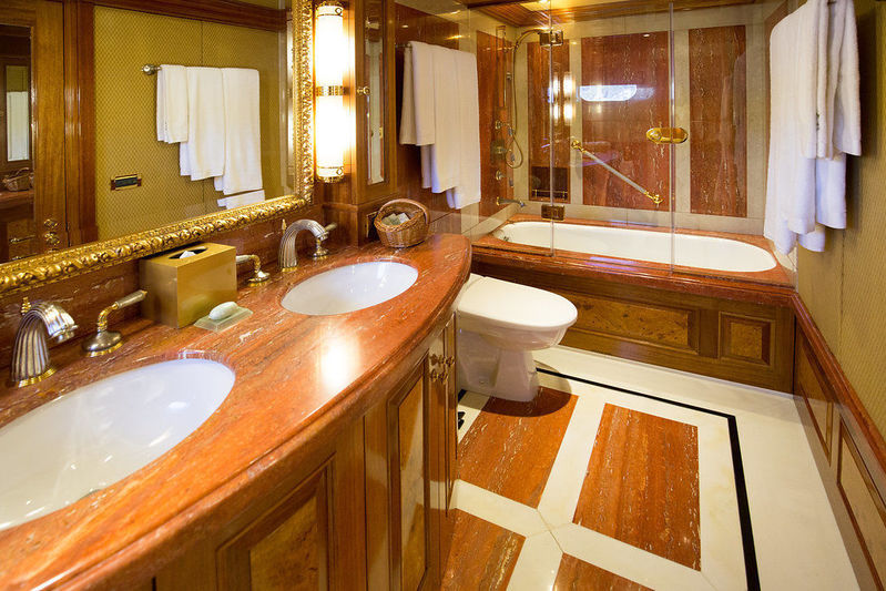 Lady Anastasia yacht guest bathroom