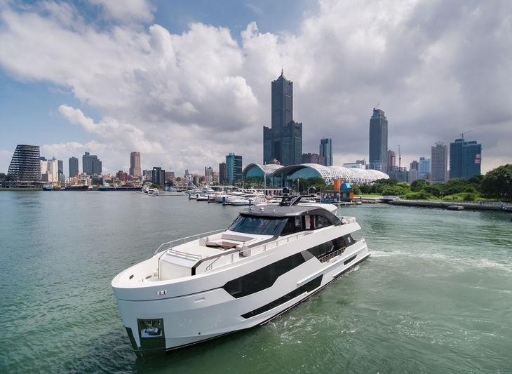 Ocean Alexander superyacht OA90 in Taiwan