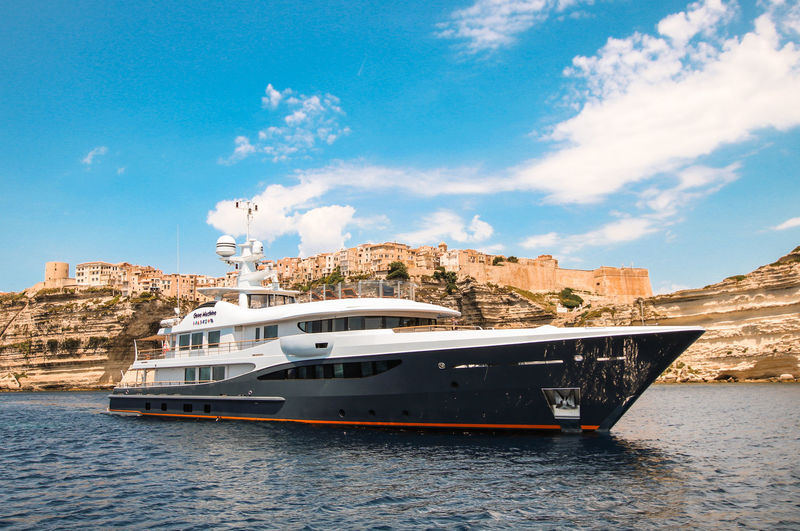 Amels superyacht Gene Machine in Bonifacio