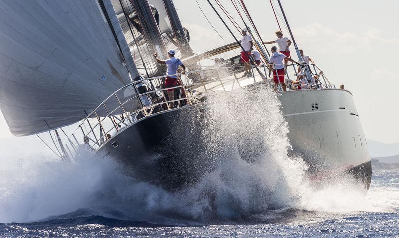 Perini Navi Ketch Seahawk sailing in Porto Cervo