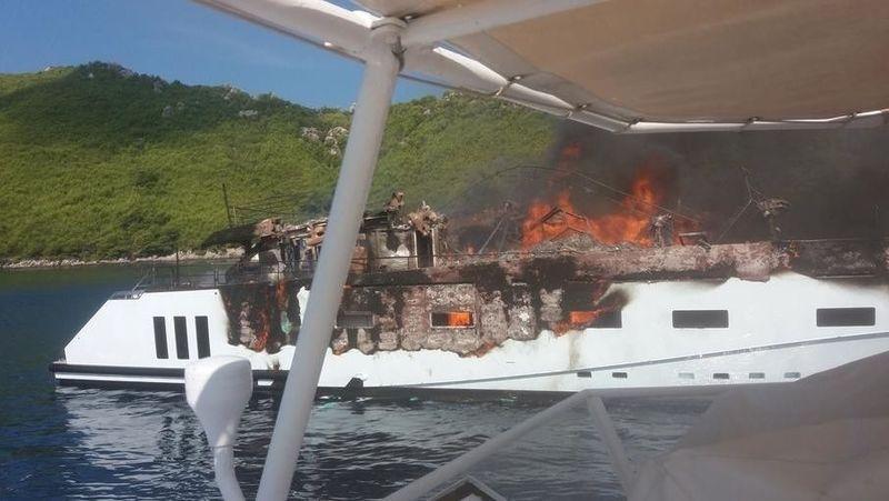 Kanga on fire in Olipa Display