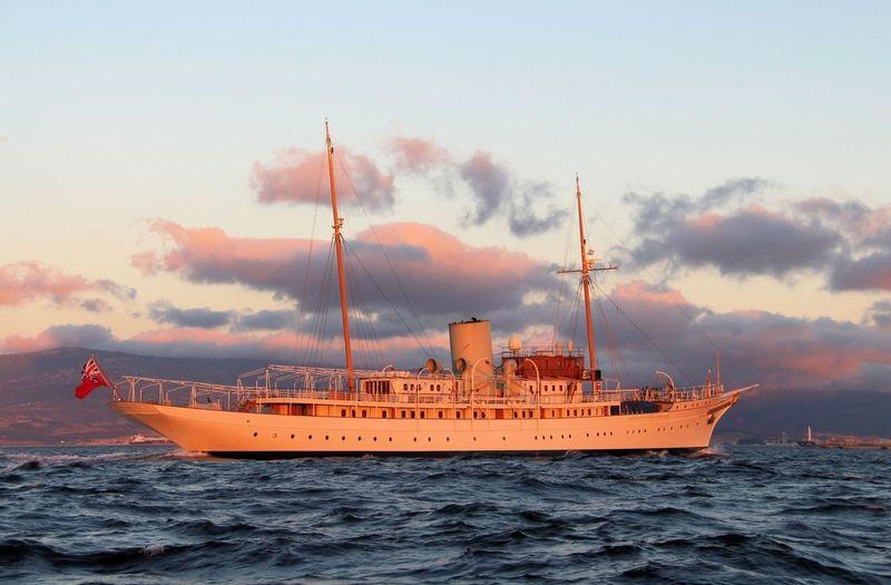 Nahlin cruising off Gibraltar