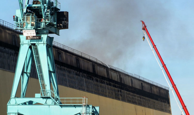 Fire at Lürssen shipyard in Bremen