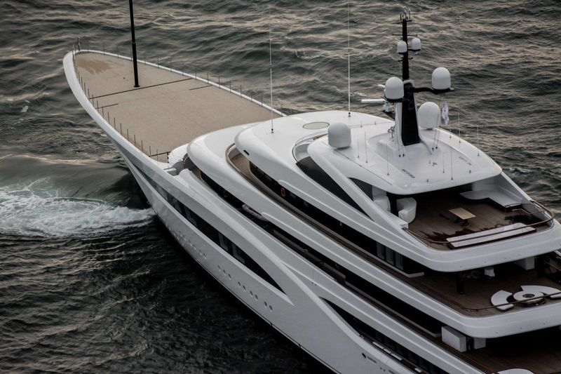 Feadship 96m Vertigo on seatrials North Sea
