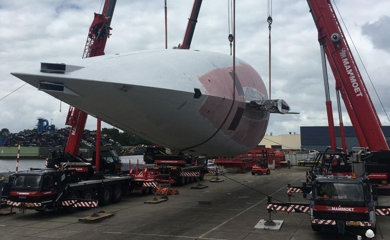 Vitters 50m ketch under construction