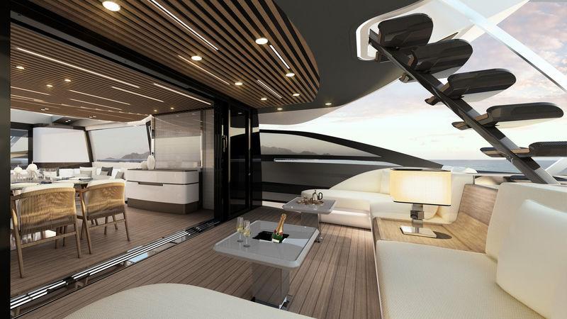 Azimut S10 exterior design