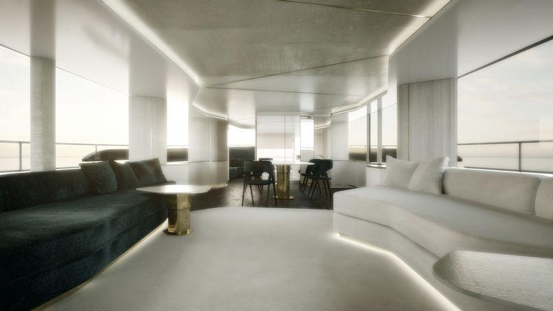 Azimut Grande Magellano 25 Metri interior design